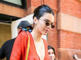 Kendall Jenner Braless See-Through Candids in New York