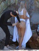 Kim Kardashian for Bikini Photoshoot in Malibu