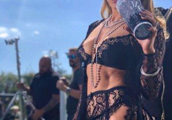 "Jennifer Lopez in ""Dinero"" Music Video Shoot"